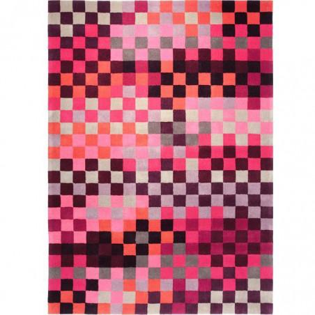 Tapis pixel Rouge et rose Esprit Home