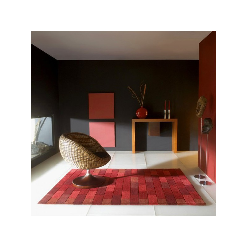 Tapis de Salon en Laine Bricks par Carving