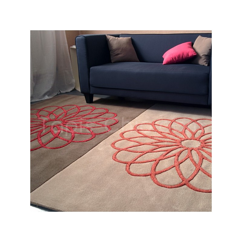 Tapis Rectangulaire Rosaces Revival 170 x 240 cm par Arte Espina