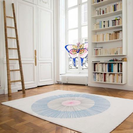 Tapis Design Pissenlit Bleu par Edito