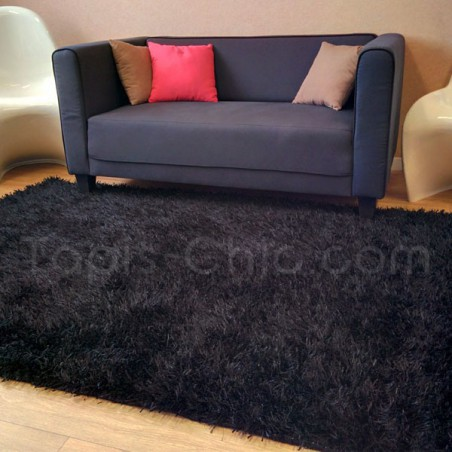 Tapis de salon shaggy Esprit Home noir