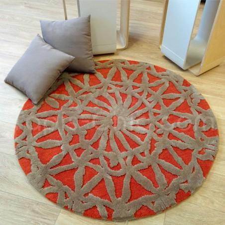 Tapis Rond Rouge Oriental Lounge par Esprit Home