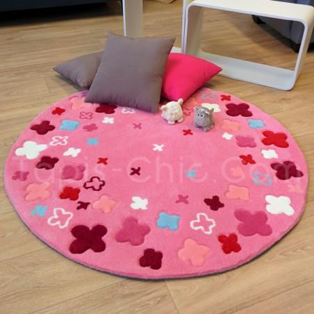 Tapis Rond pour Enfant Bloom Field Rose par Esprit Home