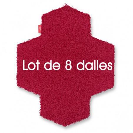 PROMO valise de 8 dalles de tapis longues mèches Framboise 139T - Esprit Home Vorwerk à assembler