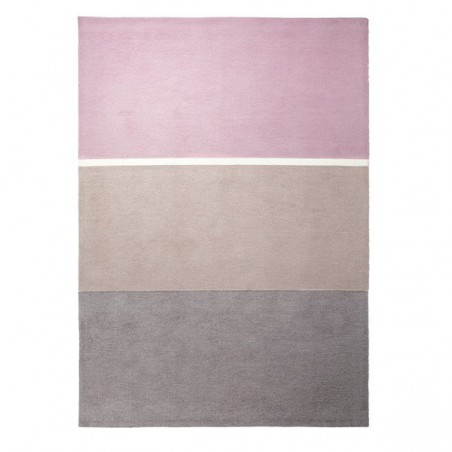 Tapis Esprit Home en acrylique rose, taupe et sable