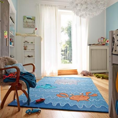 Tapis pour Enfant Sealife Bleu par Esprit Home