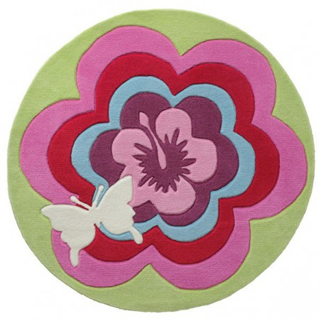 Tapis Rond pour enfant Fantasy Flower par Esprit Home