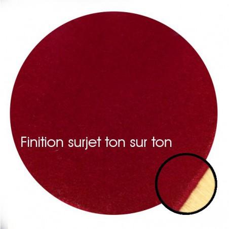 Tapis sur mesure Rond en laine Framboise gamme Velvet finition surjet