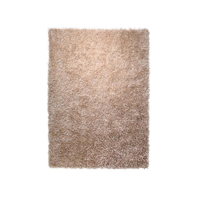 Tapis shaggy beige hauteur 5 mm