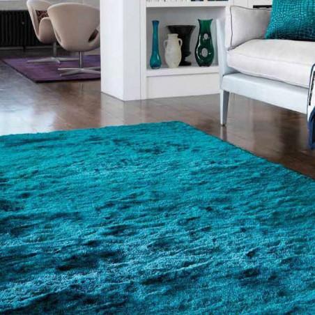 Tapis moderne Bleu Turquoise Batignolles Teal - Tapis Chic
