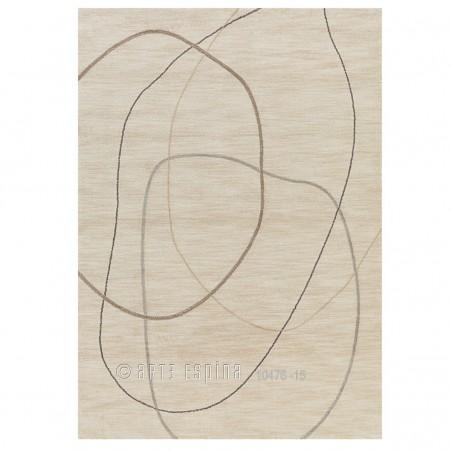 Tapis Design Beige Crème Tivoli Lines par Arte Espina