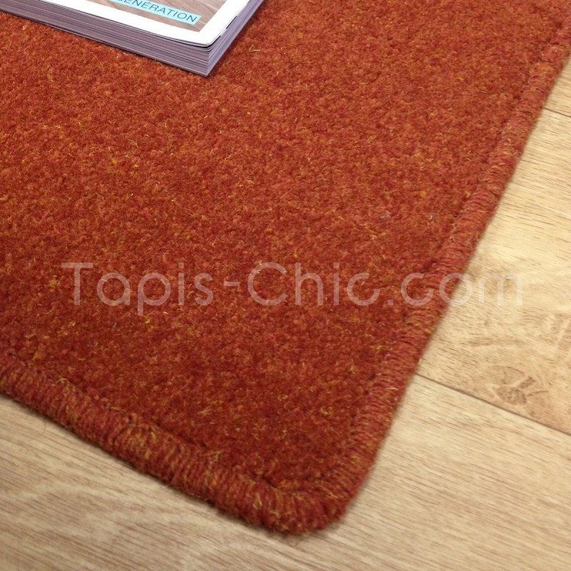 Tapis sur-mesure York Wilton Rouge Orangé Tapis Chic Collection