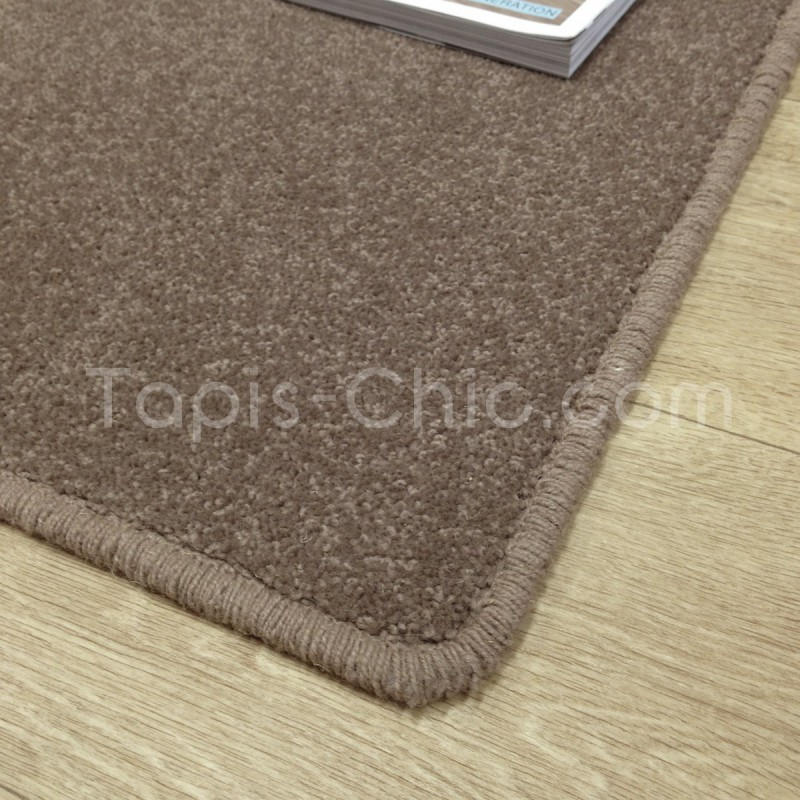 Tapis sur-mesure York Wilton Marron Taupé Tapis Chic Collection