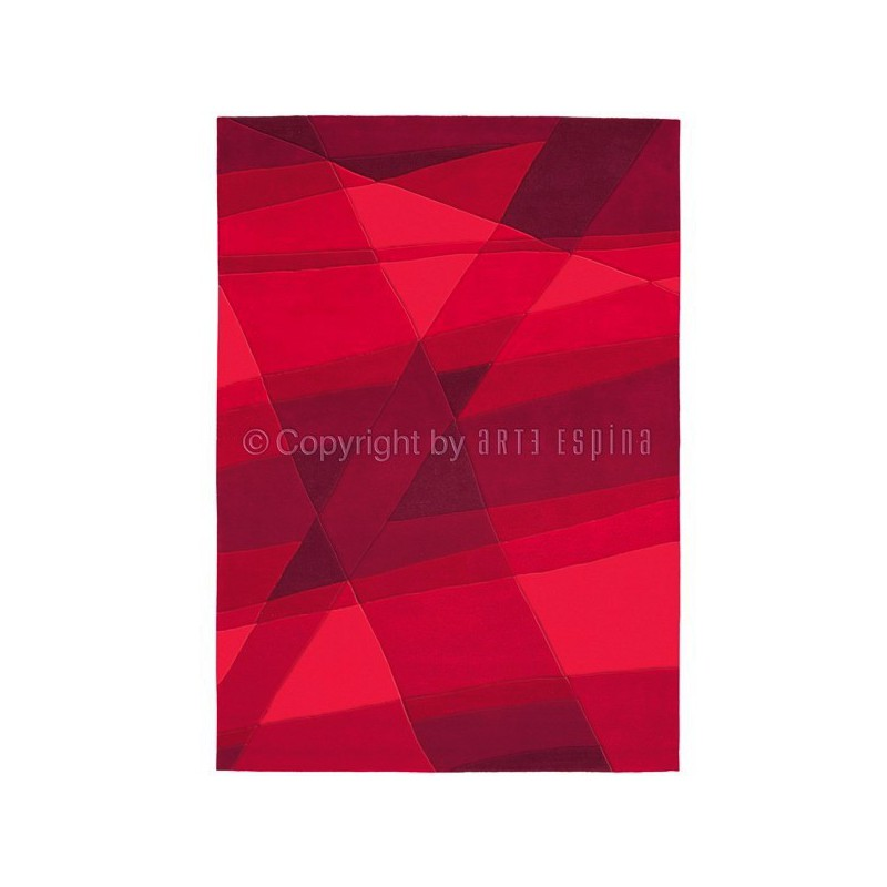 Tapis Rectangulaire Luminous Rouge par Arte Espina