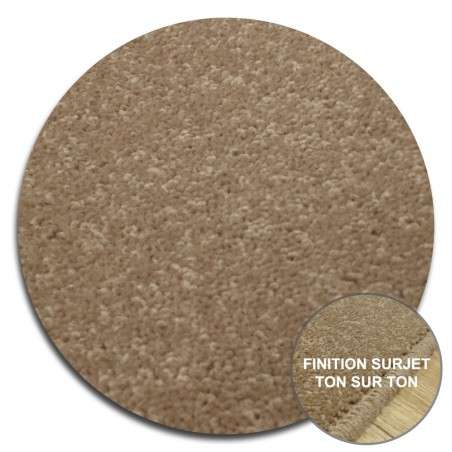 Tapis Rond sur-mesure Beige York Wilton Tapis Chic Collection