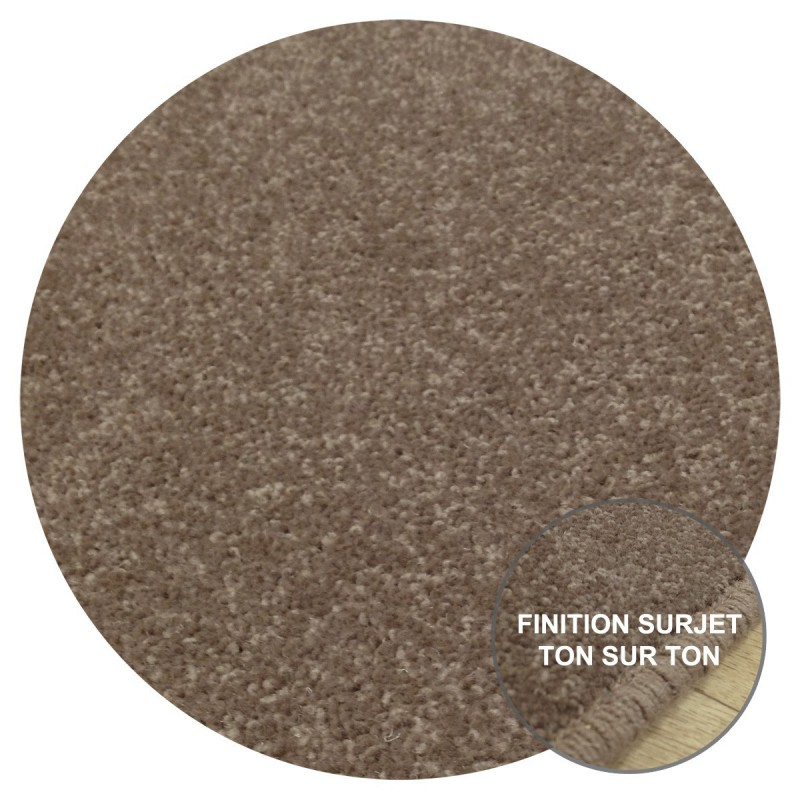 Tapis Rond sur-mesure Marron Taupé York Wilton Tapis Chic Collection
