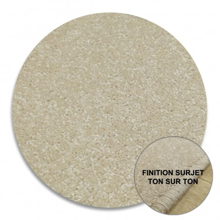 Tapis Rond sur-mesure Beige Clair York Wilton Tapis Chic Collection