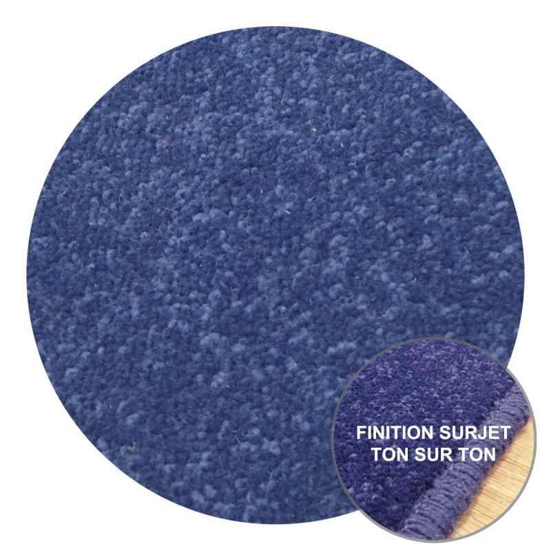 Tapis Rond sur-mesure Bleu York Wilton Tapis Chic Collection