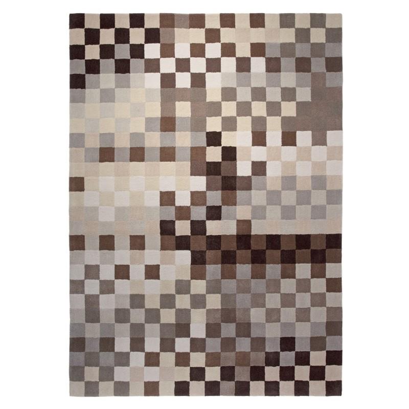 Tapis Pixel beige, gris et chocolat par Esprit Home