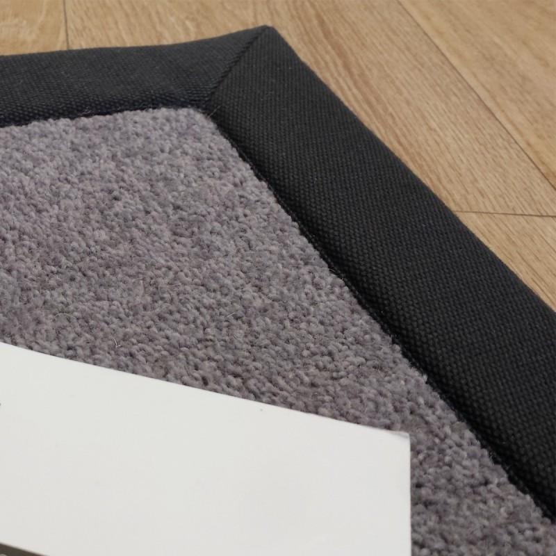 Tapis sur mesure gris en laine gansé coton par Tapis Chic Collection