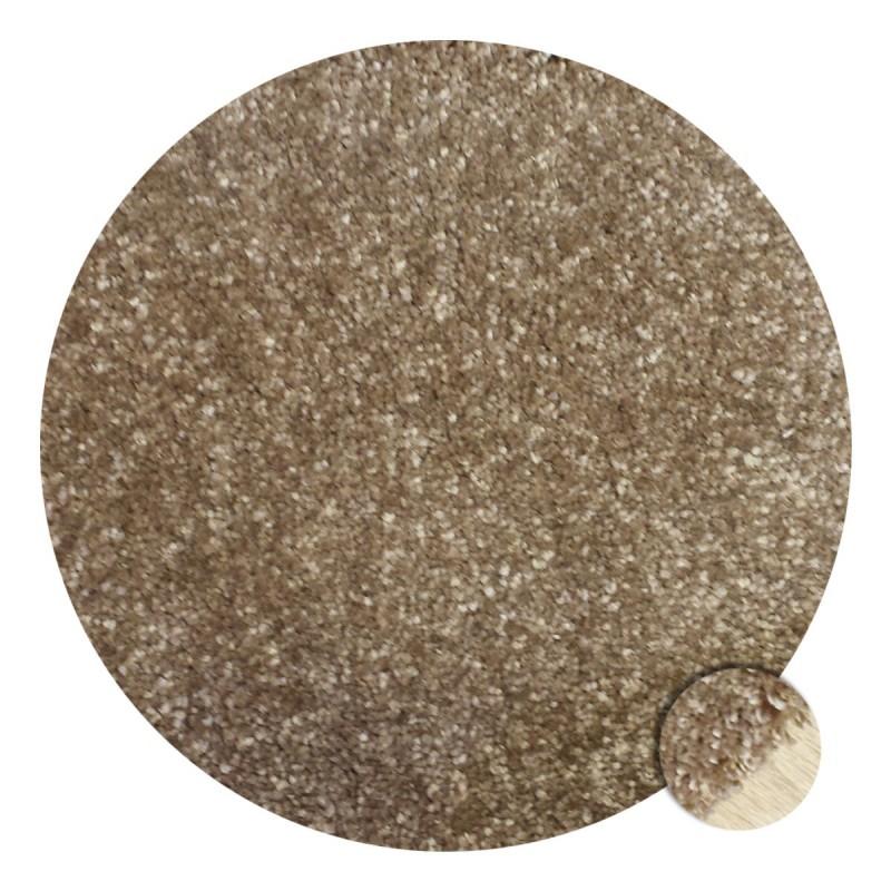 Tapis rond sur-mesure beige par Tapis Chic Collection