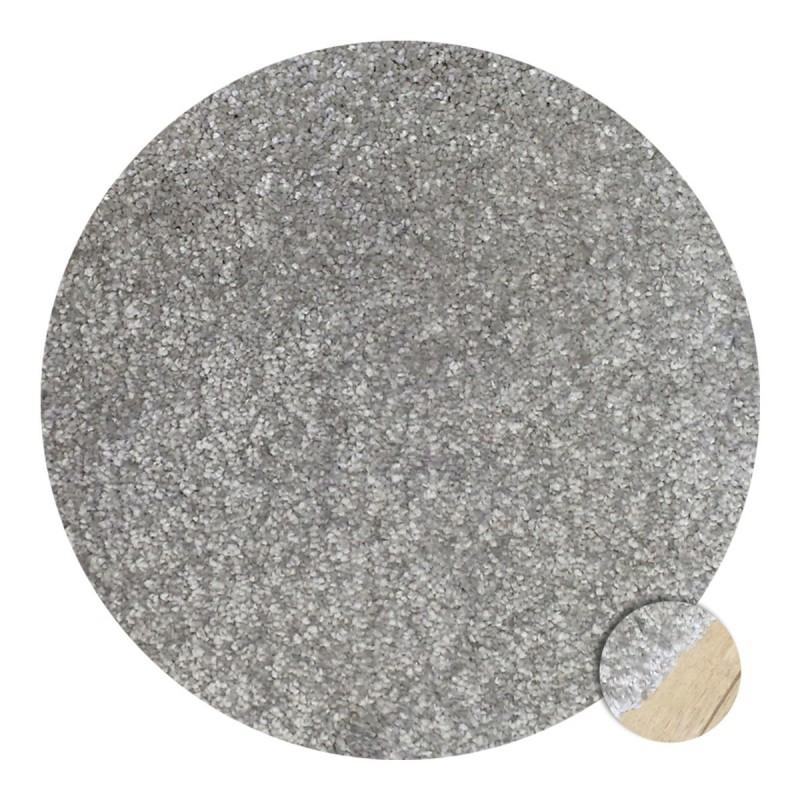 Tapis rond sur-mesure gris clair par Tapis Chic Collection