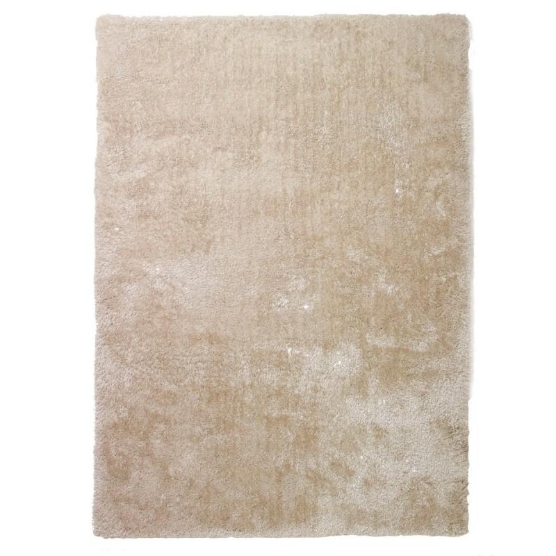 tapis shaggy beige en polyester par tapis chic collection. Black Bedroom Furniture Sets. Home Design Ideas