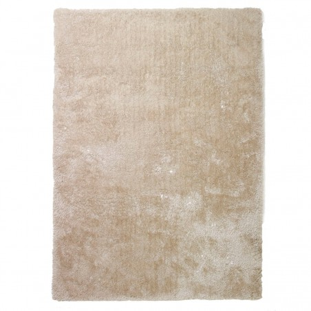 Tapis shaggy beige en polyester par Tapis Chic Collection