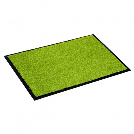 Paillasson vert uni lavable en machine par Tapis Chic Collection