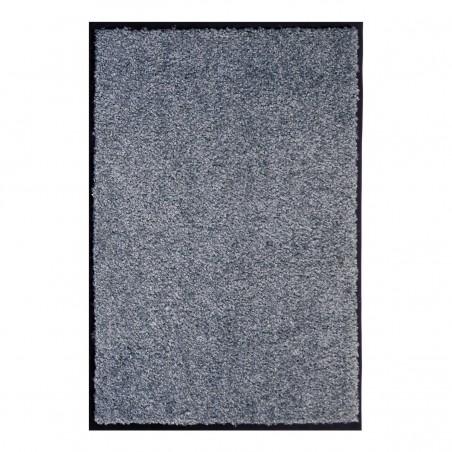 Paillasson gris uni lavable en machine par Tapis Chic Collection