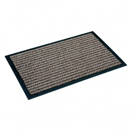 Paillasson marron à lignes fines par Tapis Chic Collection