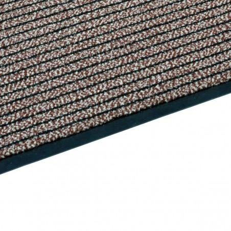Paillasson rouge à lignes fines par Tapis Chic Collection
