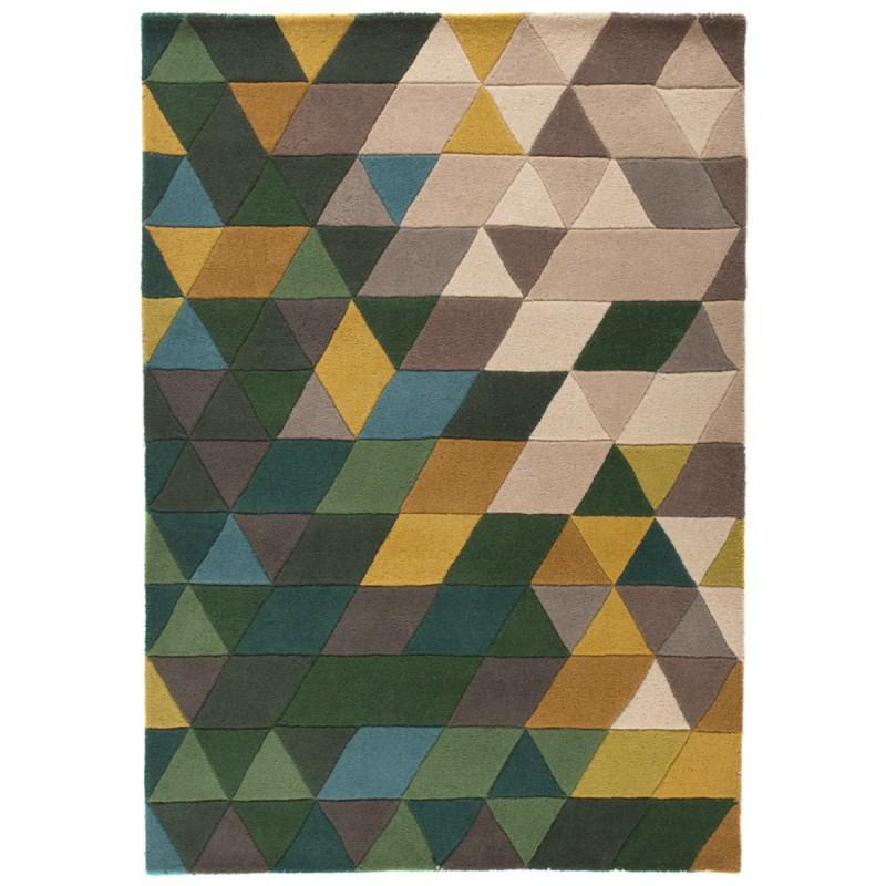 Tapis design Prism vert par Flair Rugs