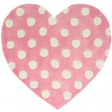 Tapis enfant Coeur Rose par Tapis Chic Collection