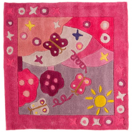 Tapis enfant Eté Rose par Tapis Chic Collection