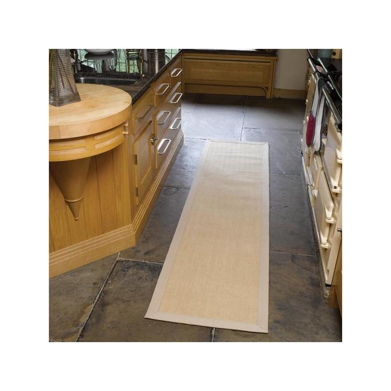Tapis de couloir rectangulaire Herrinbone beige par Flair Rugs