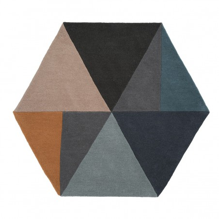 Tapis hexagonal Sato Pastel par Linie Design