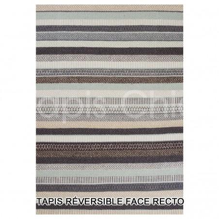 Tapis design bleu Mariko par Linie Design