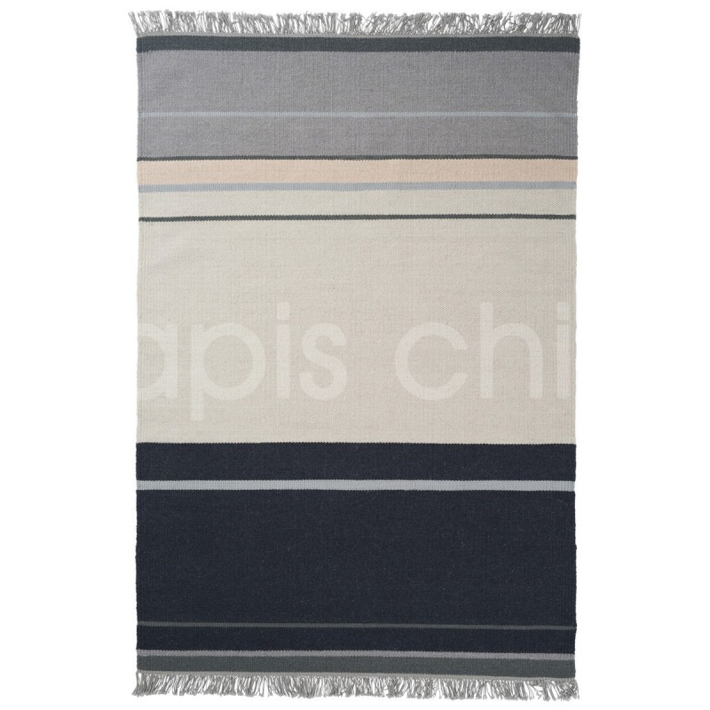 Tapis tissé main Metallum Granite par Linie Design