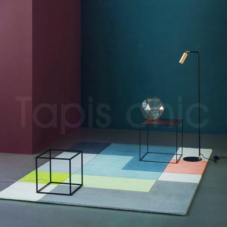 Tapis design Tetris Lime par Linie Design