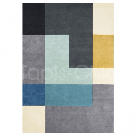 Tapis design Tetris Aqua par Linie Design