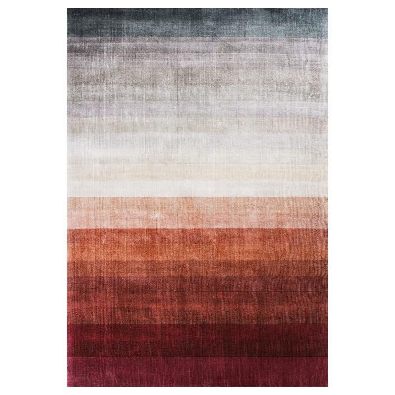 Tapis haut de gamme rouge orangé Combination par Linie Design