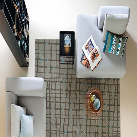 Tapis moderne taupe Grid par Arte Espina