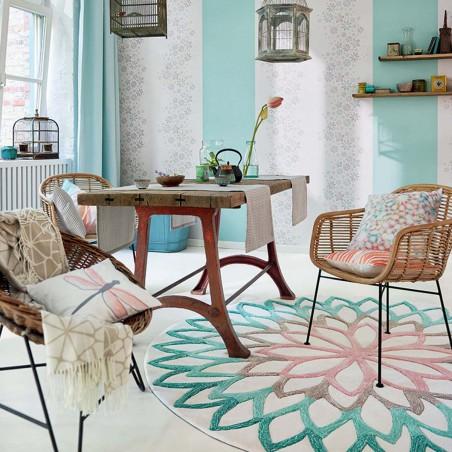 Tapis moderne Lotus Flower bleu par Esprit Home