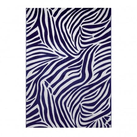 Tapis de salon Zebra bleu African Safari par Tapis Chic collection