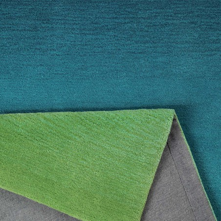tapis de salon sunrise bleu vert par esprit home. Black Bedroom Furniture Sets. Home Design Ideas