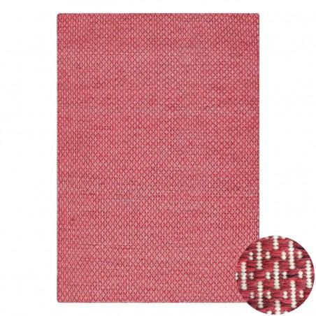 Tapis en laine rouge rosé Mic Mac par Angelo