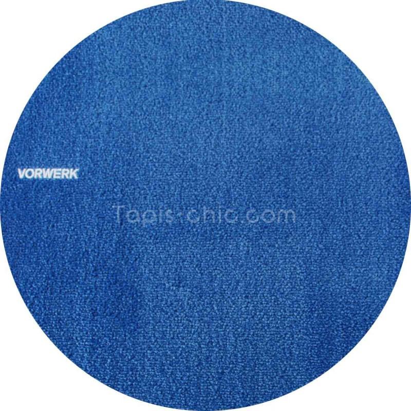 tapis sur mesure rond bleu roi par vorwerk gamme safira. Black Bedroom Furniture Sets. Home Design Ideas