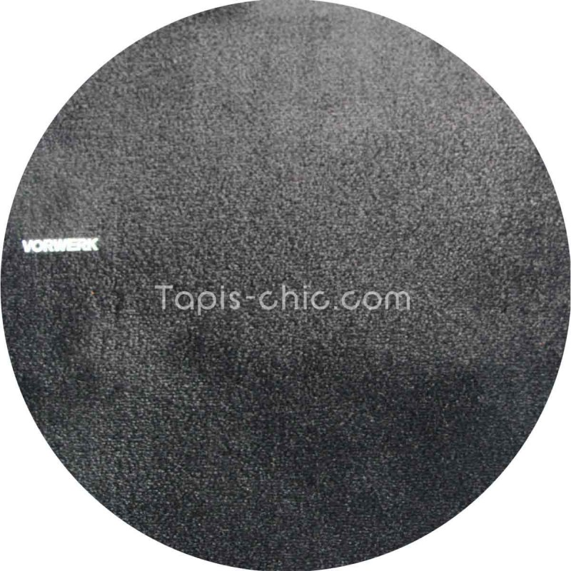 tapis sur mesure rond noir par vorwerk gamme safira