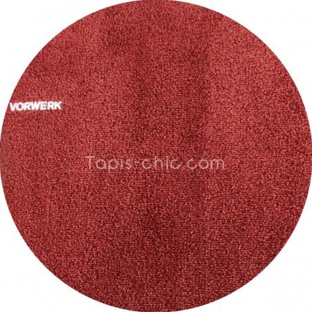 Tapis sur mesure rond Rouge Sanguine gammeSafira par Vorwerk